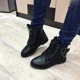 Женские ботинки стеганные на меху