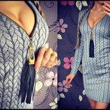 Платье ткань- стеган. трикотаж