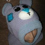 Мишка Тедди. Шапка, комплект на зиму. Ручная работа