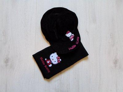 Стильный комплект с Китти для девочки кепка шарф. George. Размер 8-12 лет