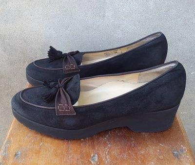 Замшевые лоферы туфли босоножки Brunate 39 р. Италия