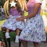 Платья Family look, мама дочка