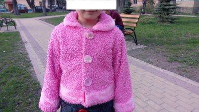 Пиджак для девочки 4-6 лет, розового цвета, рост 104-116