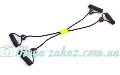 Эспандер для фитнеса Икс, длина 90см резиновый жгут, диаметр 7мм