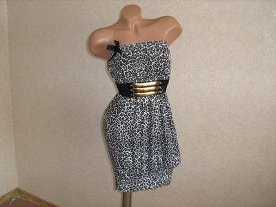 Платье бюстье леопардовое, размер 44-46