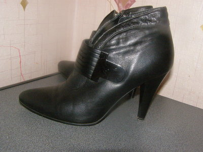 Ботинки полуботинки деми Sandnes 37р., стелька 24,5 см натур. кожа