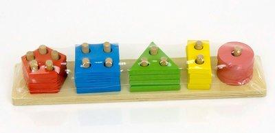 Деревянная игра Пирамидка-Сортёр Геометрик 0454 дерево