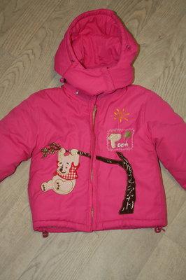 Зимняя теплая курточка в отличном состоянии на ребенка-2-3лет
