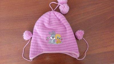 зимняя флисовая шапочка на девочку 6мес-1год