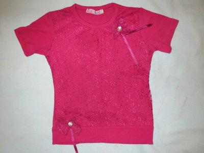 Нарядная футболка на девочку 3-5лет