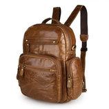Кожаный рюкзак Бесплатная доставка мужской рюкзак винтажная кожа S.J.D. 2751B