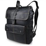 Отличный кожаный рюкзак Бесплатная доставка S.J.D. 7335A