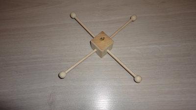 Мобиль изящный основа крестовина с бусинками полная комплектация