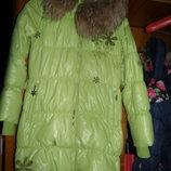 пальто пух-перо с мехом с-м