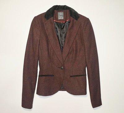 Твидовый пиджак с велюровыми вставками Atmosphere