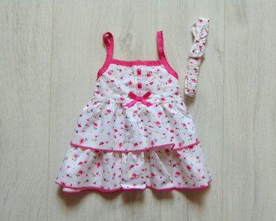Новый яркий комплект для маленькой принцессы платьице повязка. Couture. Размер 0-3 месяца