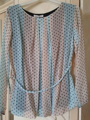 Блуза нарядная в горошек liza kott италия