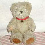старенький винтажный шарнирный мишка медведь из Германии мохер 21 см