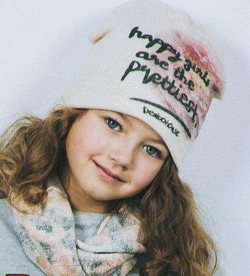 Набор для девочки шапка и хомут d01c53f62615c