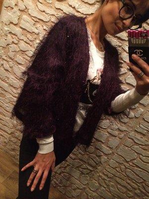 Стильная фиолетовая кофточка Травка