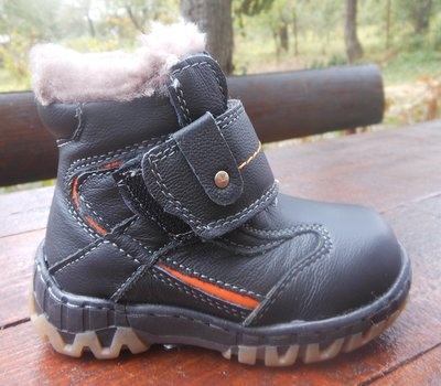 Распродажа Зимние кожанные на цегейке ботинки для мальчика. Доставка. Рр. 21,22,23