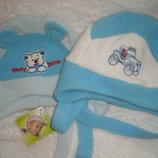 Зимняя шапка на мальчика 1 -2 года
