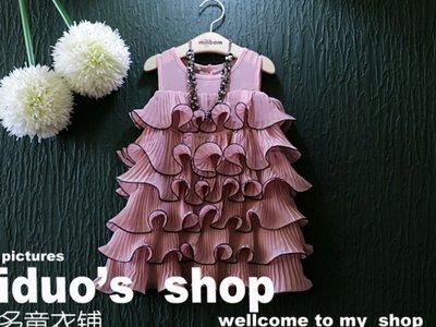 В наличии Плиссированное платье c воланами рюшами