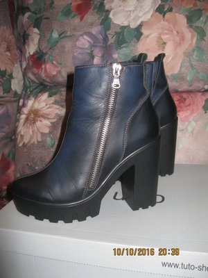 Ботинки Tuto кожа р.37 маломерки 23,5см