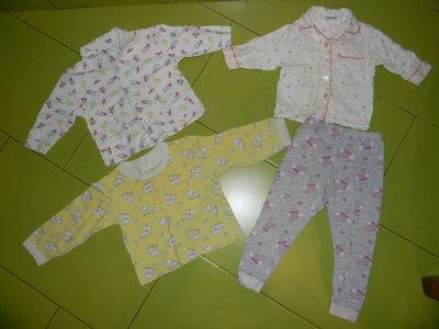 пижамные кофты и штанишки на 1-3 года б/у