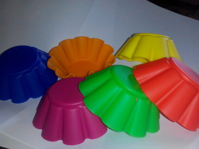 Формочки силиконовые Stenson для кексов 6 штук 7х3 см
