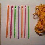 Крючки со шнурком для вязания