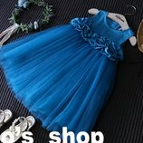 В наличии Нарядное праздничное платье ярко-синего цвета электрик
