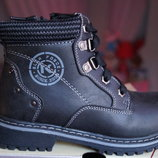 Ботинки для мальчика демисезонные, черные, новые р. 31, 32