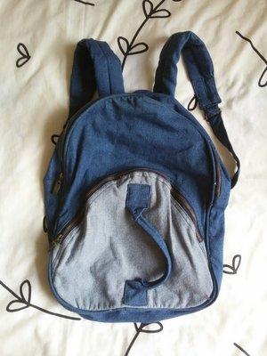 Крутой синий джинсовый рюкзак