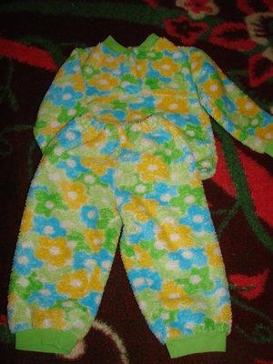 Пижама теплая, флисовая, махровая на девочку
