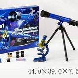 Микроскоп с телескопом 2в1, батар., с аксесс., в кор. 44 39 7,5с C2109