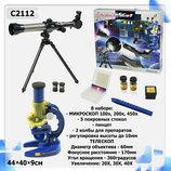Телескоп Микроскоп, аксессуар, в коробке 44 40 9см C2112