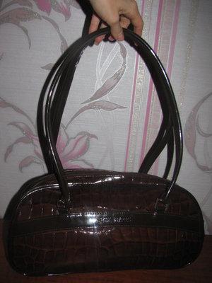 Коричневая лакированная сумка New Bags