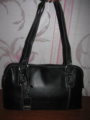 Шикарная черная сумка из натуральной кожи L.Credi