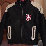Крутая кожаная куртка PH Industries. Р-Р М 152 см