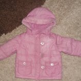 Теплая зимняя куртка Bhs Bambini на синтепоне для девочки, 12-18 мес, Италия, оригинал