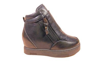 Демисезонные ботинки- сникерсы на платформе и скрытой танкетке. Размеры 36-41.