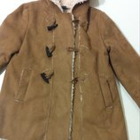 Пальто, куртка Zara р.128 сост. Идеал
