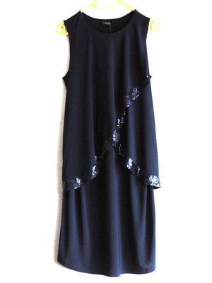 шикарное платье темно-синего цвета с напуском