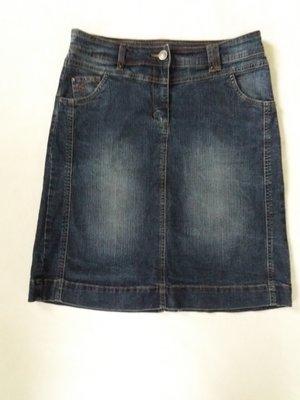 Крутая джинсовая юбка миди м-л