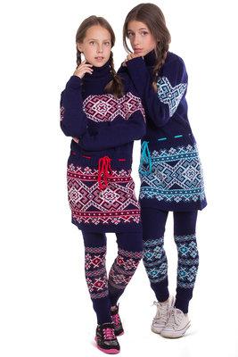 Продано: Теплое платье-туника для девочки Берегиня