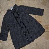 моднявое пальто в елочку