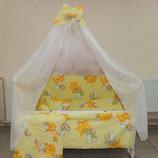 Набор-Кроватка Маятник-Ящик, постель разные цвета, матрас, держатель