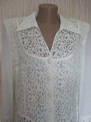 Женская блузка ажурная с длинным рукавом. в наличии. новая