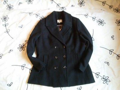 Крутое черное пальто Papaya Matalan, размер 16